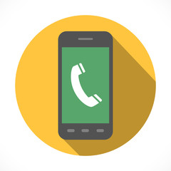 Handset sign in smartphone Icon Symbol. Flat Design collection.