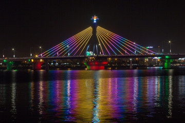 Han River Bridge in Danang, Vietnam.
