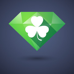 Diamond icon with a clover