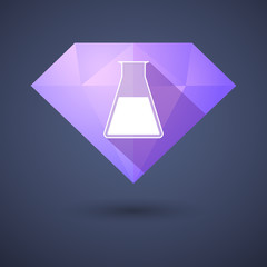 Diamond icon with a chemical test tube