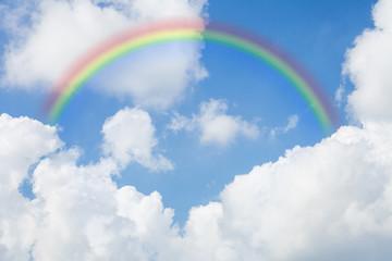 sky with a rainbow