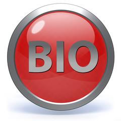 Bio circular icon on white background