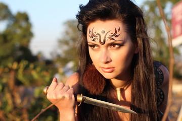 beautiful girl-warrior - Amazon