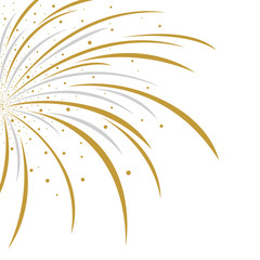 Vector firework design on white background