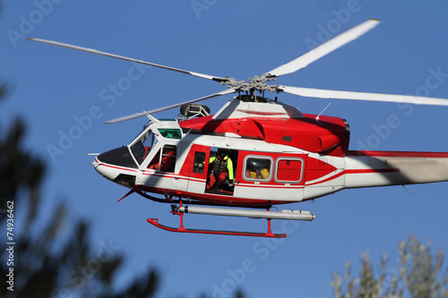 Foto op Canvas Helicopter Elicottero dei Vigili del Fuoco