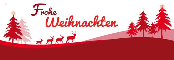 Frohe Weihnachten rot Hintergrund