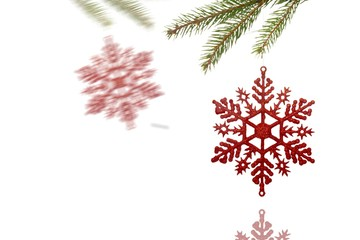 Composite image of Decorations on tree