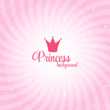 Princess Abstract  Background Vector Illustration.