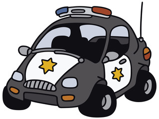 Hand drawing of a funny american police car