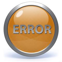 error circular icon on white background