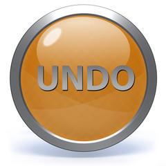 undo circular icon on white background