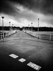 Rainy day. The pier.