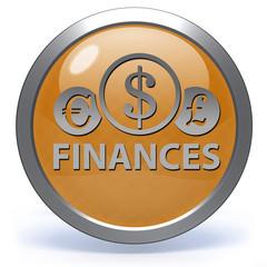Finance circular icon on white background