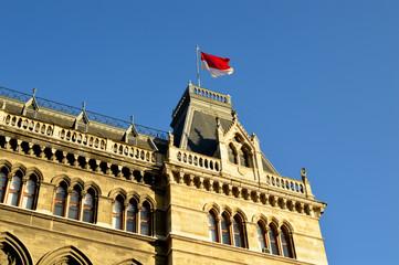 Wiener Rathaus mit Fahne