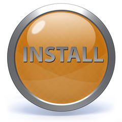 Installation circular icon on white background