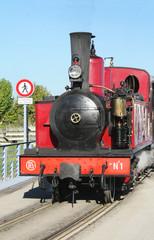 Locomotive à vapeur, 1906, en Baie de Somme, Picardie