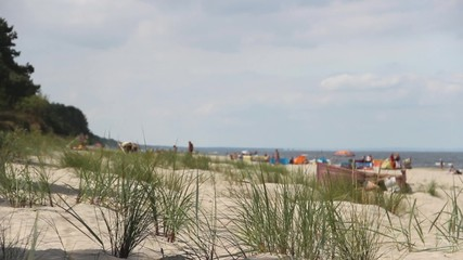 People on the beach - Baltic Sea.