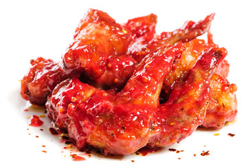 chicken wings in raspberry sauce