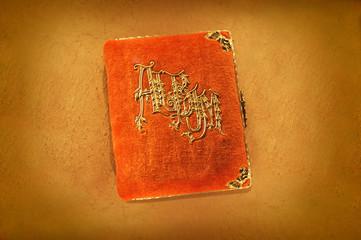 Antique Orange Photo Album