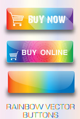 Rainbow web buttons