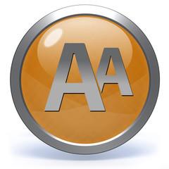 Alphabet circular icon on white background