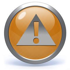 Danger circular icon on white background