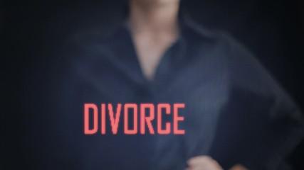 divorce text hand