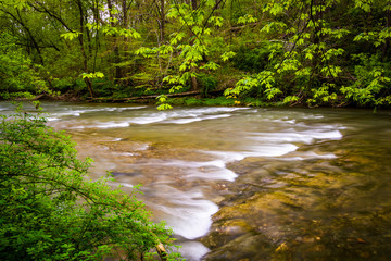 Cascades on the Conestoga River in Lancaster County Central Park