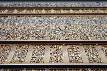 Two parallel railway tracks