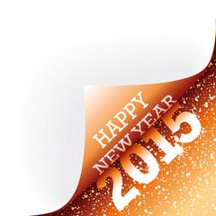 Papier Ecke Orange Happy New Year