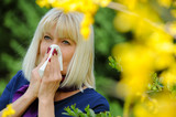 Senior Woman Allergic To Pollen poster