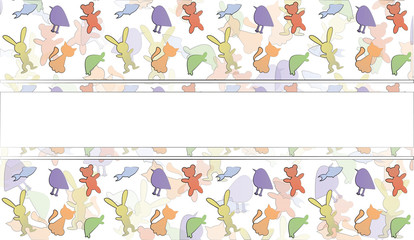 seamless pattern with animals for children