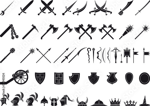 medieval weapons - 74945024