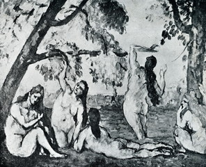 Bathers by Paul Cézanne