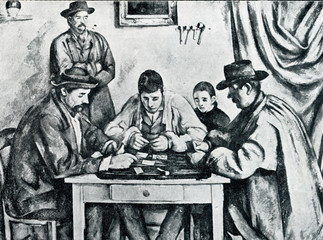 Card Players by Paul Cezanne (1890–92, Barnes Foundation)