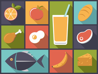 Everyday Food icons vector illustration
