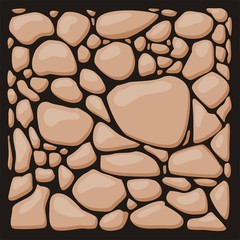 Stone cladding. Vector texture set.