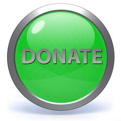 Donate circular icon on white background