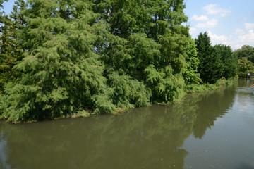 Normandie, the Eure river in Ezy sur Eure
