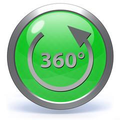 360 degrees circular icon on white background