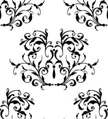 Vector classic black seamless pattern