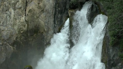 Rough waterfall in New Zealand