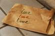 canvas print picture - eine tüte liebe I