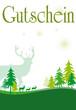 Gutschein grün Jagt Jäger Weihnachten