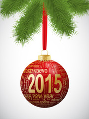 2015 Bauble (merry happy new year Christmas)