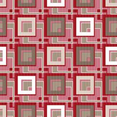 Patchwork seamless retro ornamental square pattern background