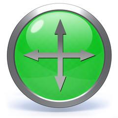 Arrow  circular icon on white background