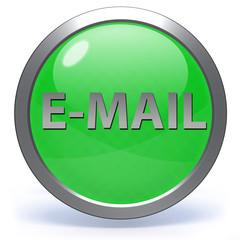 E-mail circular icon on white background