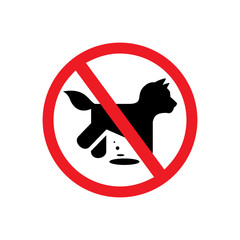 No dogs vector sign