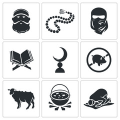 Set of Islamic Vector Icons